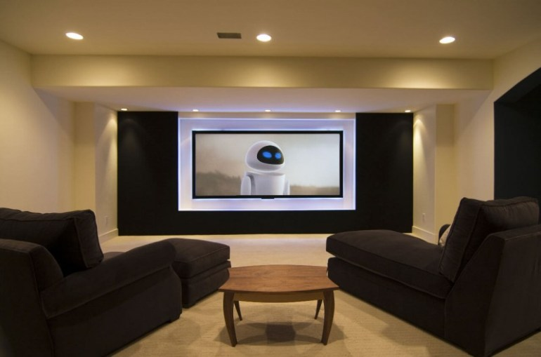 basement home theater colors