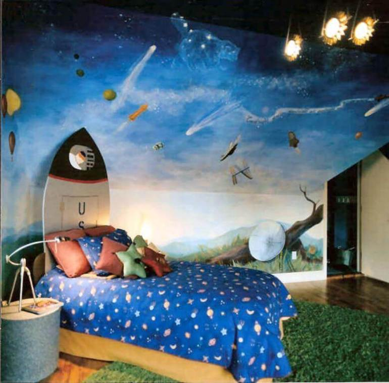 space themed bedroom wallpaper