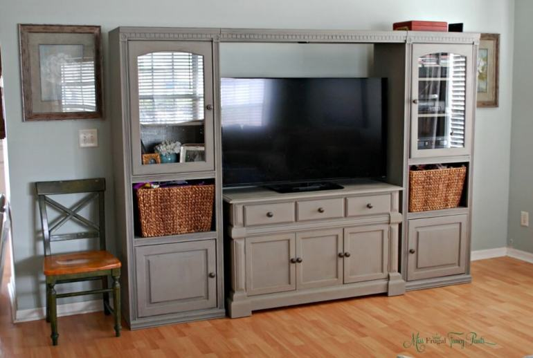 diy entertainment center corner