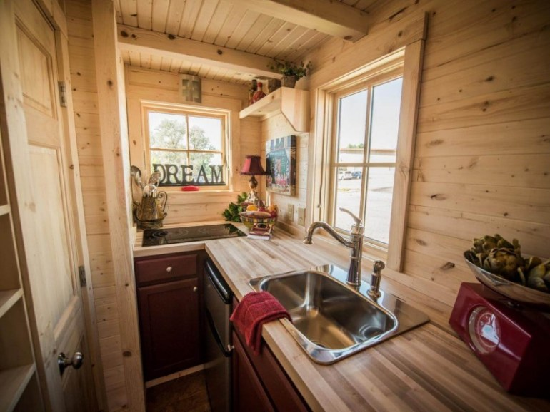 building a tiny house kitchen