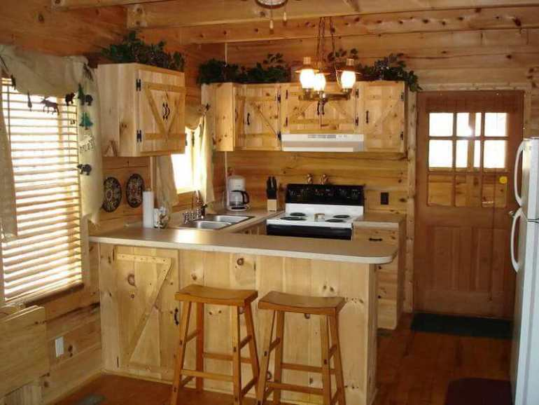 tiny house kitchen and bath