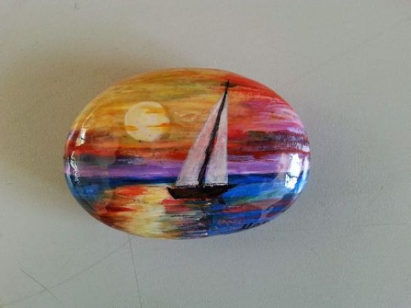 rock painting ideas watermelon