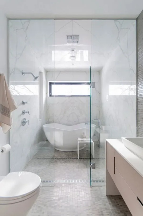 one piece shower units