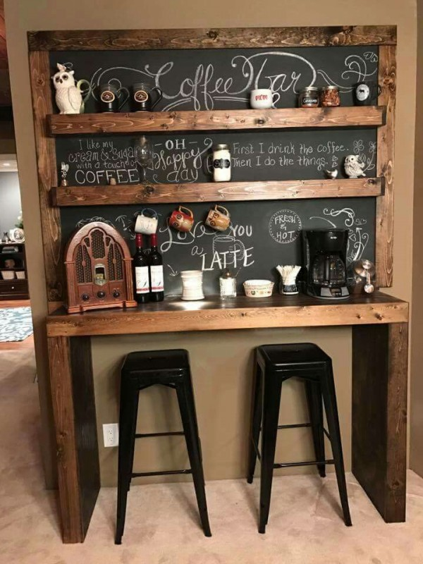 Chalkboard coffee station ideas