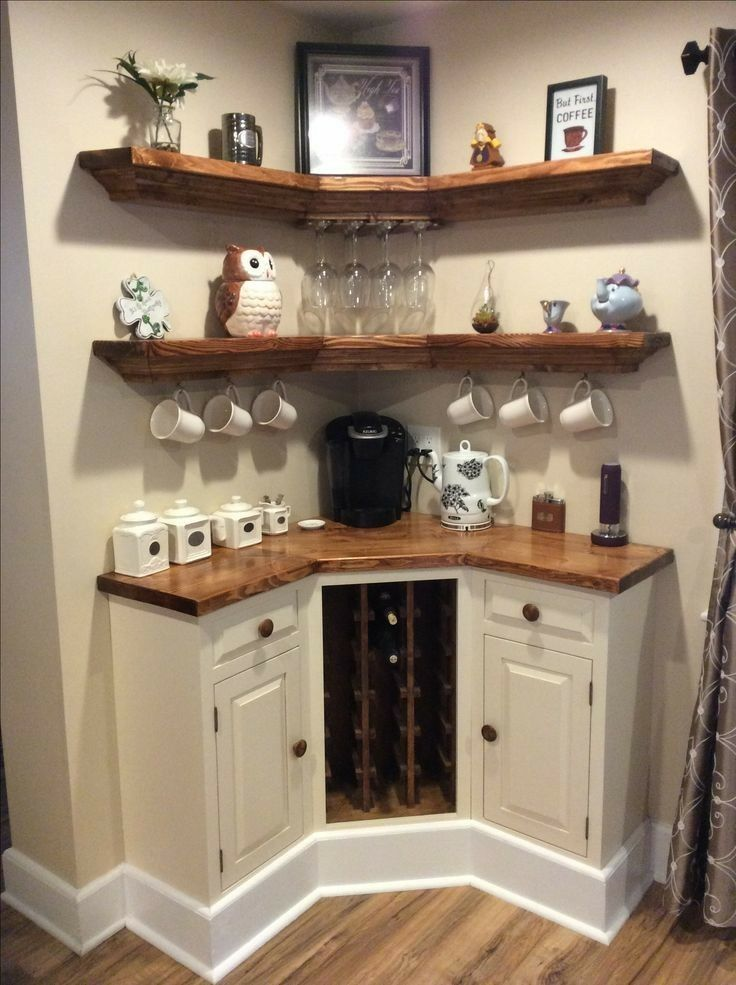 Cornered Coffee Station Ideas