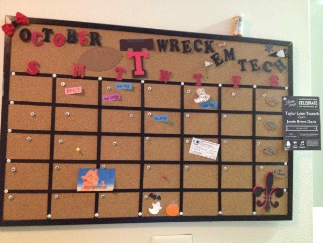 Calendar Cork Board Ideas