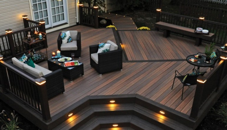 17 wonderful garden decking ideas with best decking designs for Wood house design software