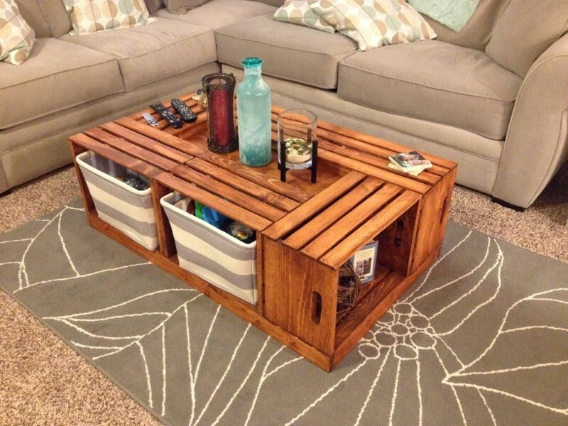 25 Unique DIY Coffee Table Ideas That Offer Creative Style and Storage