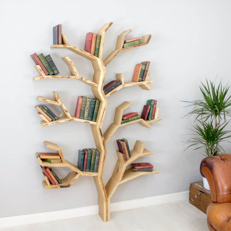 DIY Tree Bookshelf Plans
