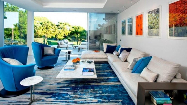 Deep Blue Sea Living Room Color