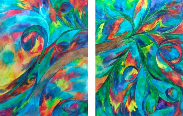 Palms, 18x24 each [Tobin Turner]