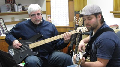 Dan with a Bass student