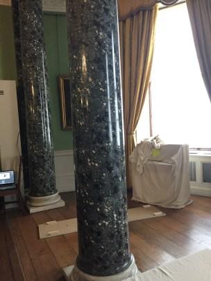fake marble pillars
