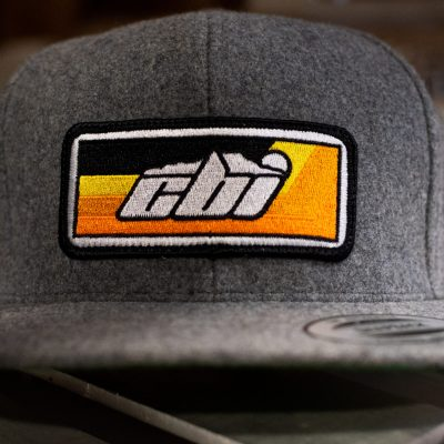 grey wool snap back hat cbi