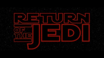 Title card for Star Wars episode 6: Return of the Jedi