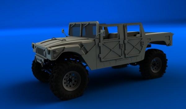 hummer militaire sur chassis scx10