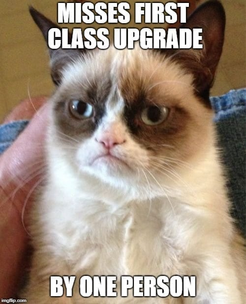 Airplane Memes - Missed First Class by One Person Travel Memes