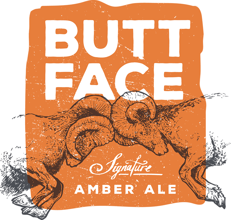 The Buttface Signature Amber Ale from The Ram in Salem, OR