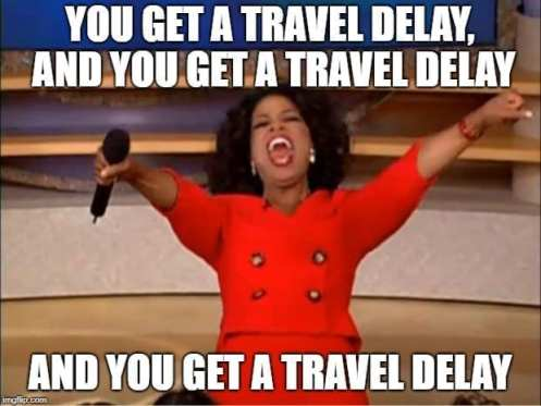 Business Travel Meme You get a Delay
