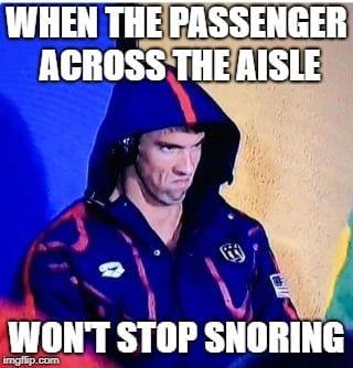 Travel Memes - Snoring Passenger