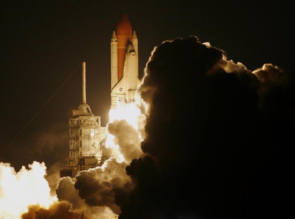rocket nasa liftoff royalty free