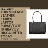 DEAL ALERT: This Vintage Leather Ladies Laptop Purse/Tote is heavily discounted today