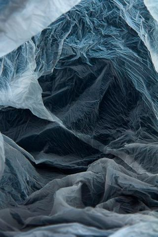 Series of photographes created by photographing plastic bags