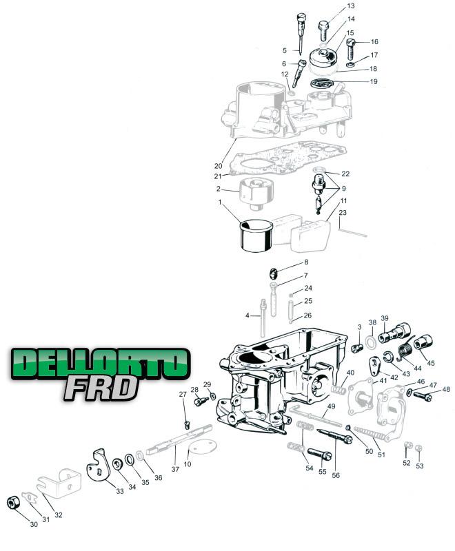 Dellorto FRD Parts Locator