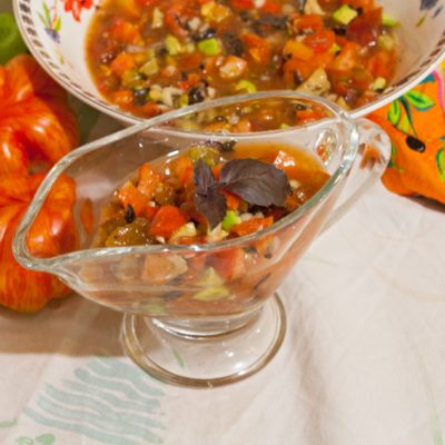 Avocado salsa with tomatoes