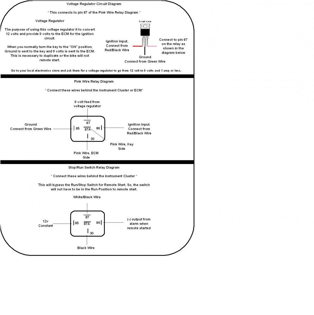 remote start wiring diagram bmw e30 ignition switch 2001 to 2003 honda cbr600 f4i alarm and