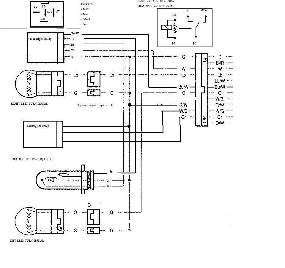 2001 Honda Cbr 600 F4i Headlight Wiring Diagram Free