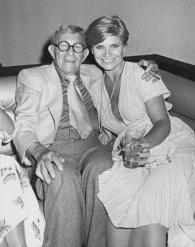 "NEW YORK CITY - JULY 20: Comedian George Burns and date Lisa Miller attending the premiere party for ""Sgt. Pepper's Lonely Hearts Club Band"" on July 20, 1978 at Studio 54 in New York City, New York. (Photo by Ron Galella/WireImage)"