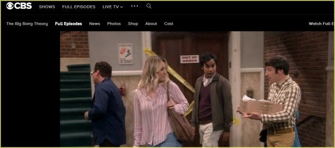 I am watching the Big Bang Theory with Surfshark VPN on CBS All Access