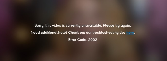 error code 2002 on cbs all access
