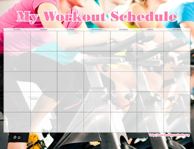 exercise calendar template free - blank workout calendar free download champlain college