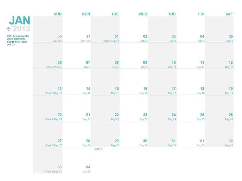 calendar template – Page 59