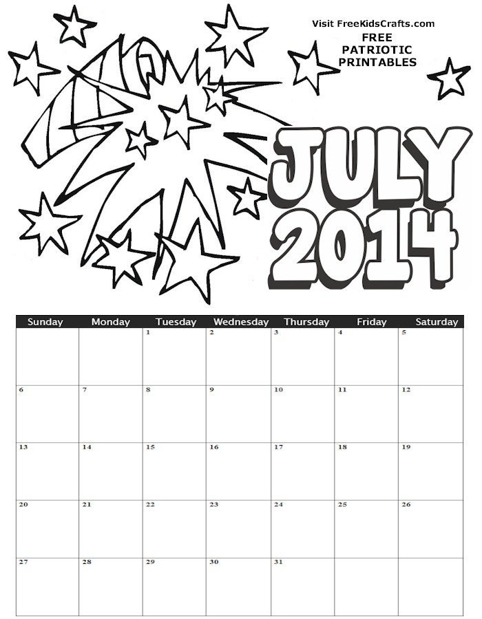 Printable Kid Calendar » Calendar Template 2018