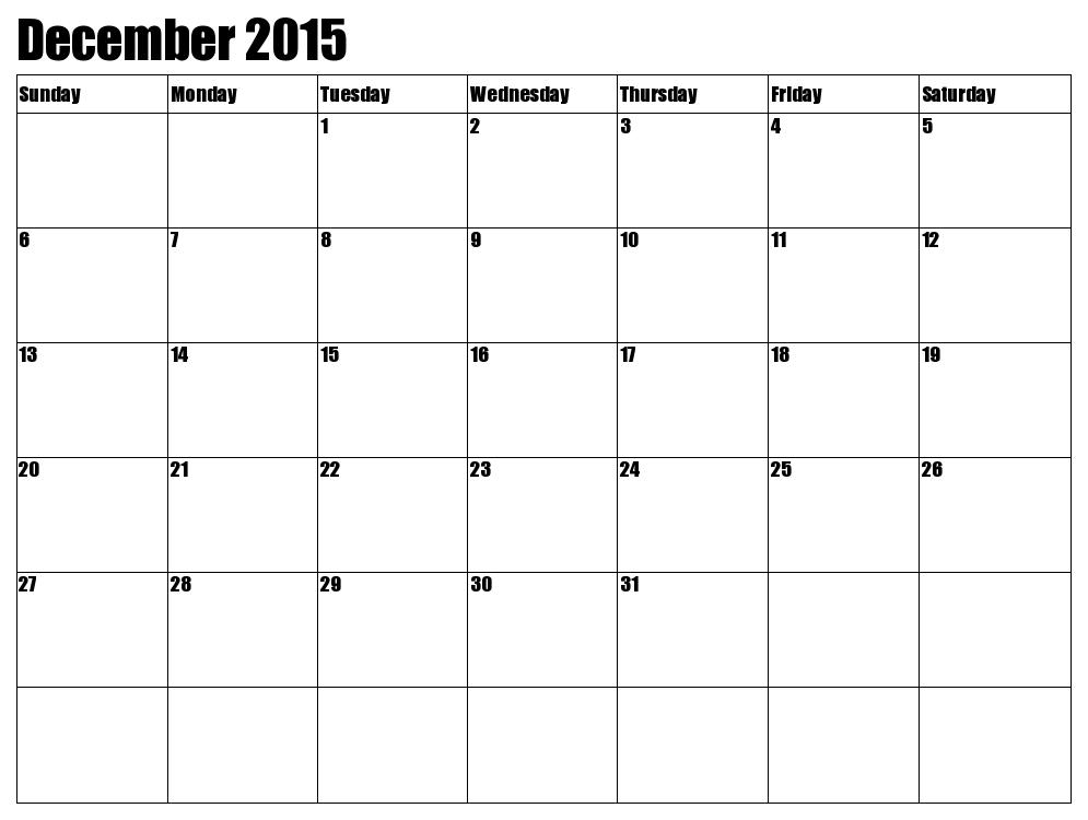 December And January Calendar Printable » Calendar Template 2018