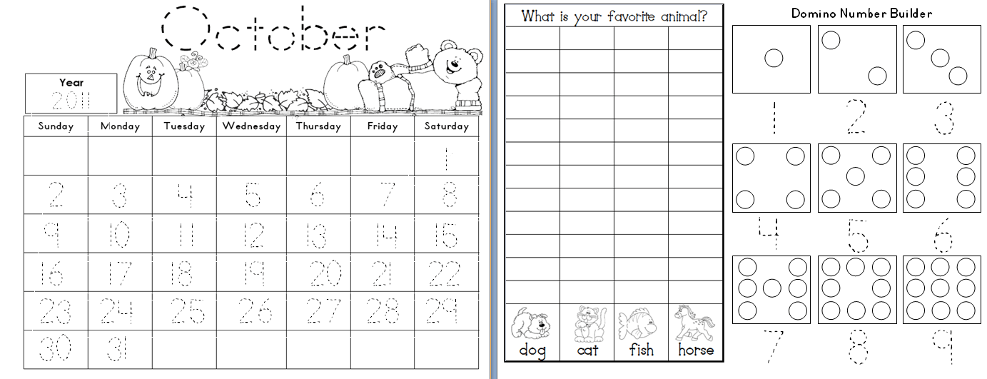 Calendar Activities For Kindergarten