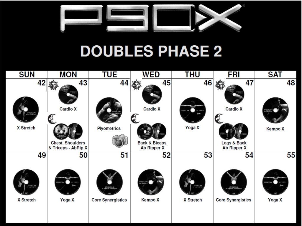 P90x Workouts Schedule
