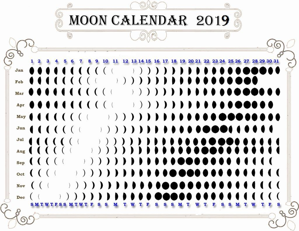 Calendar To Print With Moon Phases Calendar Template