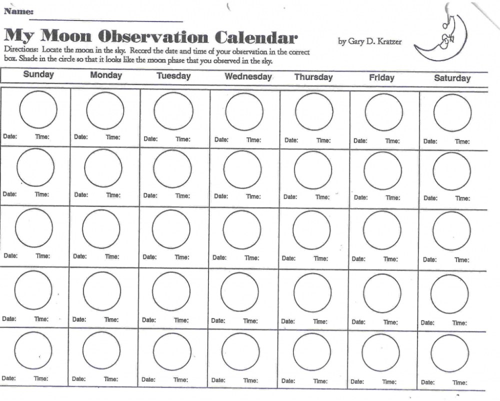 medium resolution of Drawing Moon Phases Worksheet   Printable Worksheets and Activities for  Teachers