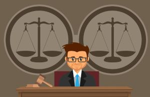 image of judge in court
