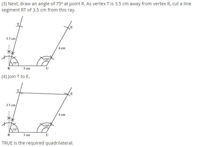 NCERT Solutions for Class 8 Maths Chapter 4 Practical