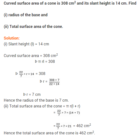 Surface Areas And Volumes Ncert Extra Questions For Class