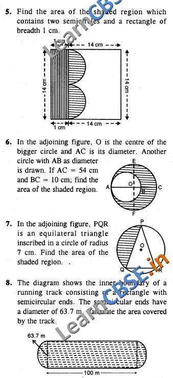 Areas Related to Circles CBSE Class 10 Maths HOTS