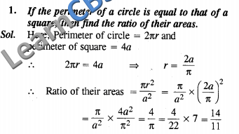 NCERT Exemplar Solutions Class 10 Maths Areas Related to