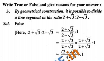 NCERT Exemplar Solutions Class 10 Maths Constructions SAQ