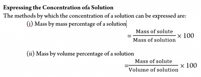 Concentration of a Solution