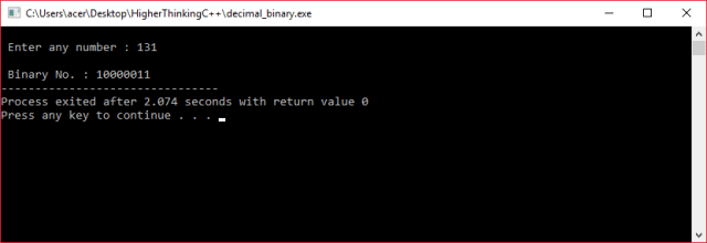 Decimal to binary converter